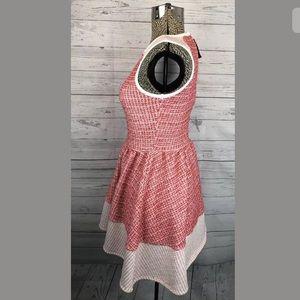 ASOS Petite Dresses - ASOS petite dress tweed pink red and white 2P